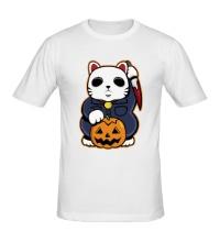 Мужская футболка Хеллоуинский кот