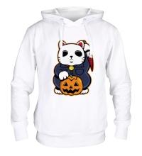 Толстовка с капюшоном Хеллоуинский кот