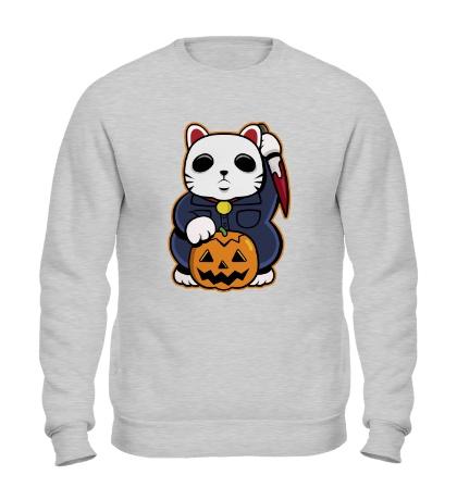 Свитшот Хеллоуинский кот