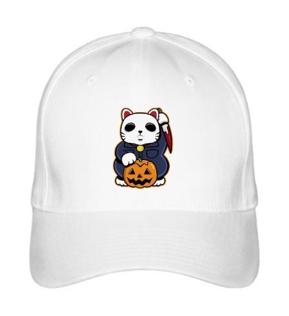Бейсболка Хеллоуинский кот
