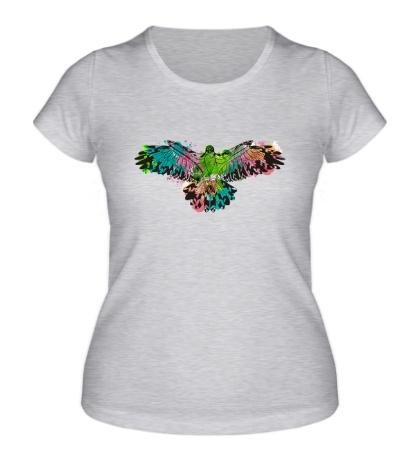 Женская футболка «Силуэт орла»