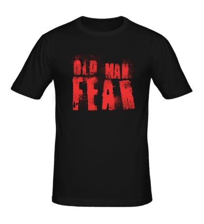 Мужская футболка Old Man Fear Red