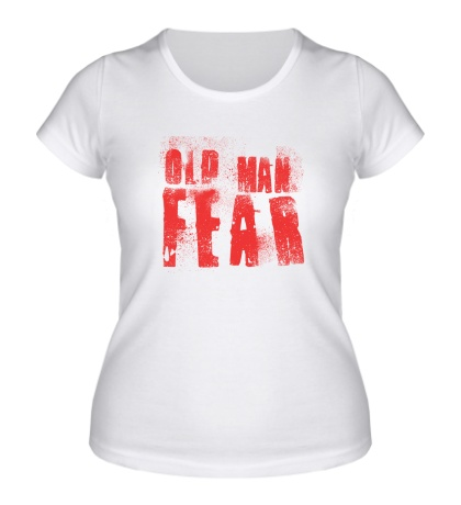 Женская футболка Old Man Fear Red