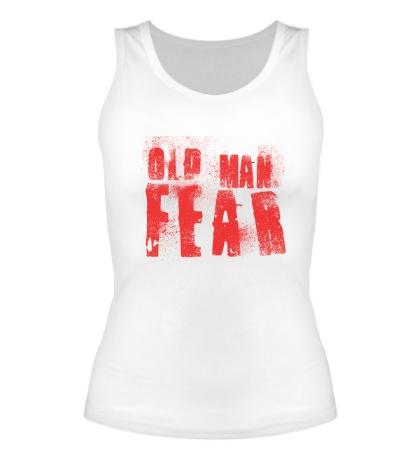 Женская майка Old Man Fear Red