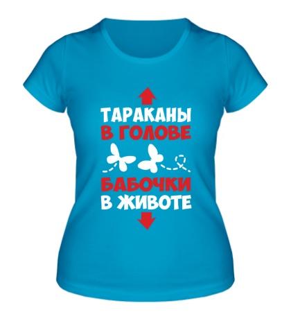 Женская футболка Бабочки в животе