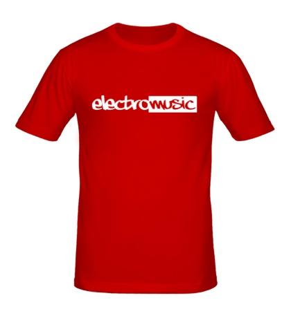 Мужская футболка Electro music