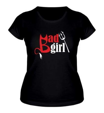 Женская футболка Плохая девчонка