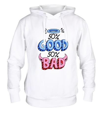 Толстовка с капюшоном Good vs Bad