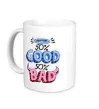 Керамическая кружка Good vs Bad