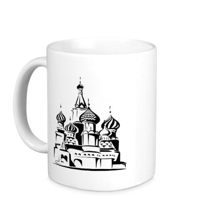 Керамическая кружка Храм Василия Блаженного