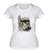 Женская футболка Имперский штурмовик эскиз