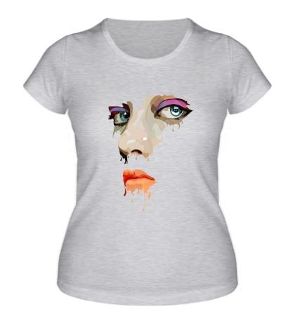 Женская футболка Абстракция лица