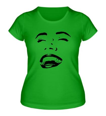 Женская футболка Улыбка девушки