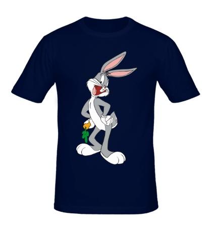 Мужская футболка Багз Банни с морковкой