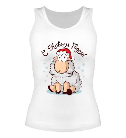 Женская майка Новогодняя овечка