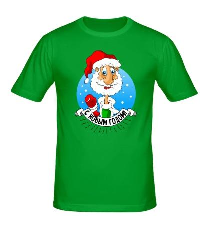 Мужская футболка Дед Мороз: с Новым годом