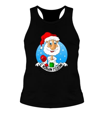 Мужская борцовка Дед Мороз: с Новым годом