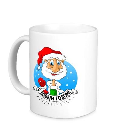 Керамическая кружка Дед Мороз: с Новым годом