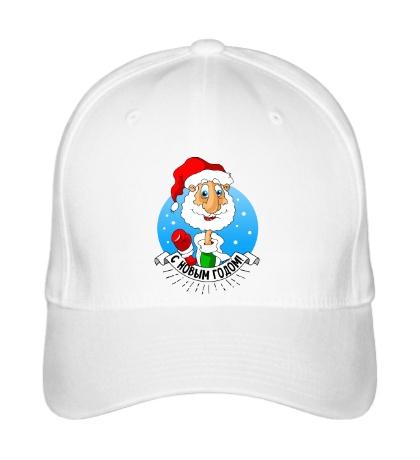 Бейсболка Дед Мороз: с Новым годом