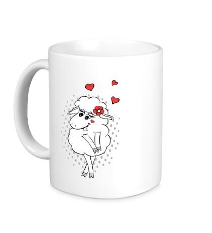 Керамическая кружка Влюбленная овечка