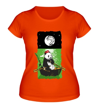 Женская футболка Панда в лодке