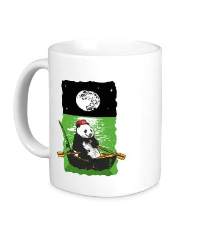 Керамическая кружка Панда в лодке