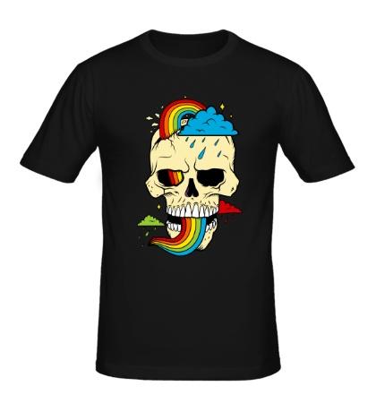 Мужская футболка Красочный череп