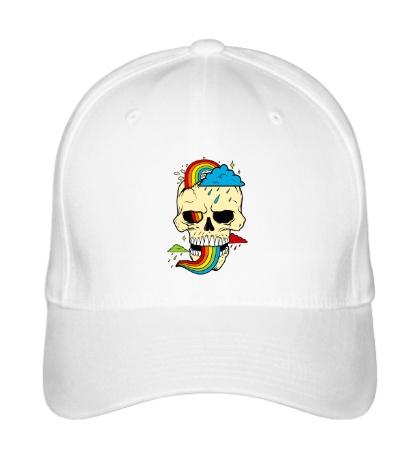 Бейсболка Красочный череп