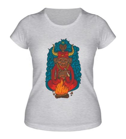 Женская футболка Огненный шаман