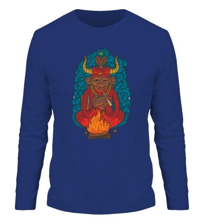 Мужской лонгслив Огненный шаман