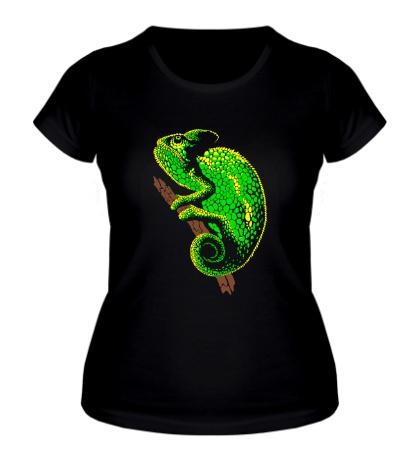Женская футболка Древесный хамелеон