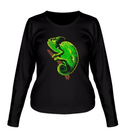 Женский лонгслив Древесный хамелеон