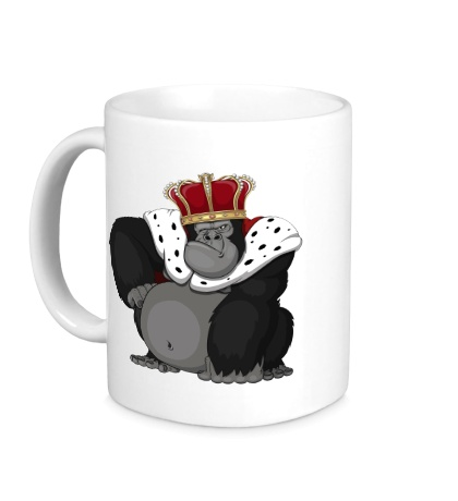Керамическая кружка Горилла король