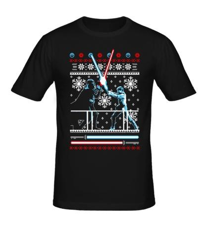 Мужская футболка Рождественская дуэль