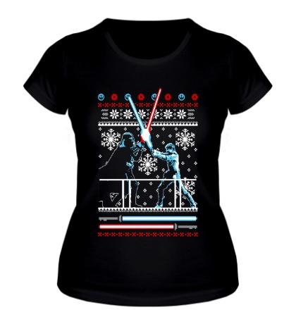 Женская футболка Рождественская дуэль