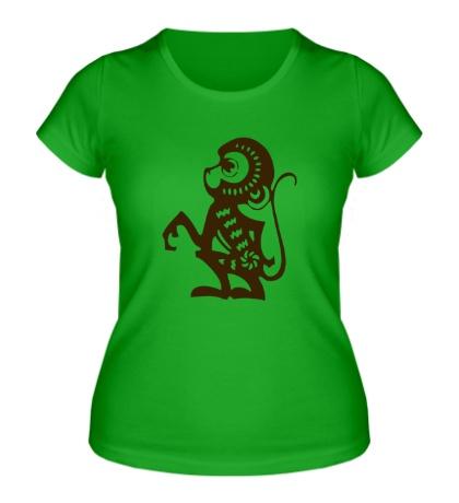 Женская футболка Обезьяна года