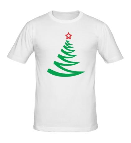 Мужская футболка Новогодняя ёлочка