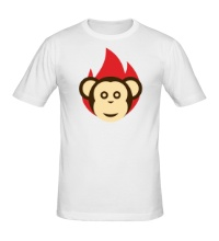 Мужская футболка Огненная обезьяна