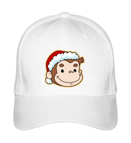 Бейсболка Обезьянка в шапке Санты