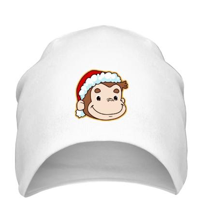 Шапка Обезьянка в шапке Санты