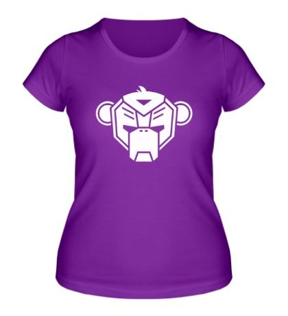 Женская футболка Робо-обезьяна