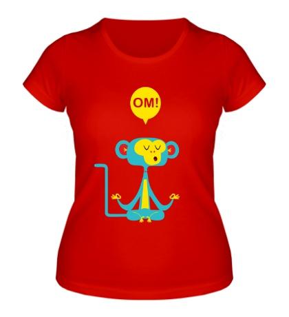 Женская футболка Медитирующая обезьяна