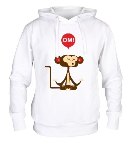 Толстовка с капюшоном Медитирующая обезьяна