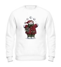 Свитшот Снеговик со снежками