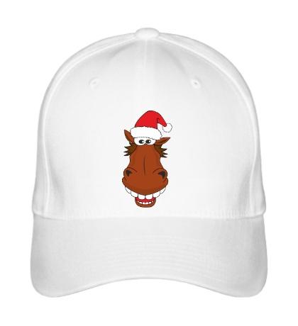 Бейсболка Конь в шапке санты