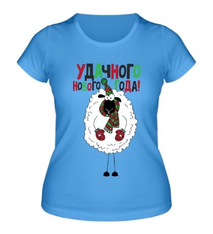 Женская футболка Овечка в шарфе