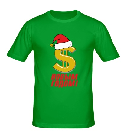Мужская футболка Доллар в шапке