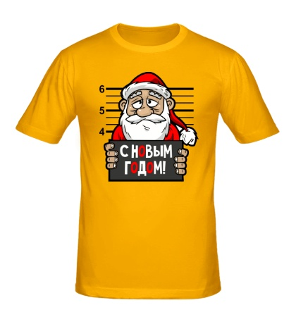 Мужская футболка Санта арестован