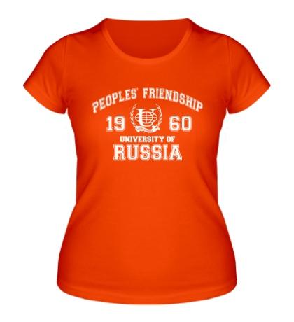 Женская футболка РУДН Университет