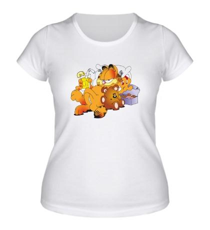 Женская футболка Кот Гарфилд